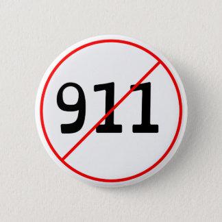 Chapa Redonda De 5 Cm NINGÚN 911 logotipo A