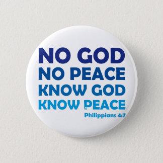 Chapa Redonda De 5 Cm Ningún dios ninguna insignia de la paz