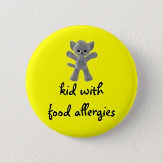 Chapa Redonda De 5 Cm Niño con las alergias alimentarias