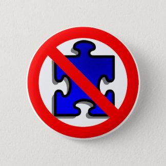 Chapa Redonda De 5 Cm No más de pedazos del rompecabezas para el autismo