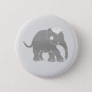 Chapa Redonda De 5 Cm Novia gris preciosa del elefante del vintage