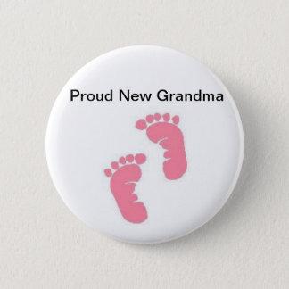 Chapa Redonda De 5 Cm Nueva abuela orgullosa