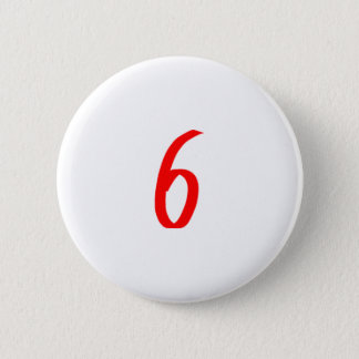 Chapa Redonda De 5 Cm Número 6 seis colores rojos