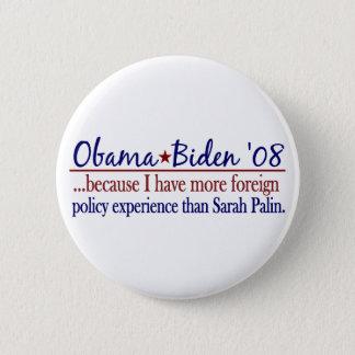 Chapa Redonda De 5 Cm Obama Biden (política exterior Anti-Palin)