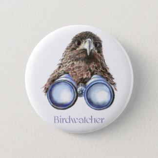 Chapa Redonda De 5 Cm Observación de pájaros del halcón de Birdwatcher