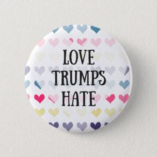 Chapa Redonda De 5 Cm Odio de los triunfos del amor (botón)