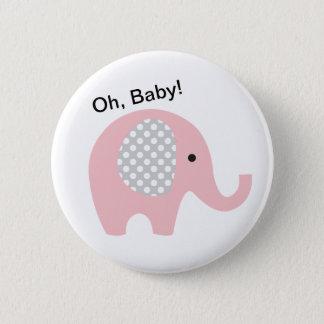 Chapa Redonda De 5 Cm ¡Oh, bebé! Botones con el elefante