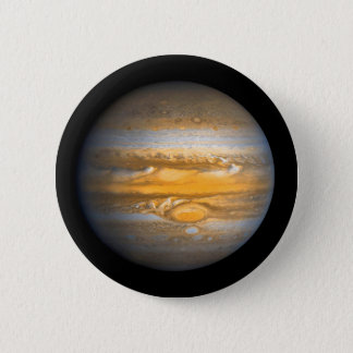 Chapa Redonda De 5 Cm Ojo del planeta de Júpiter del espacio exterior