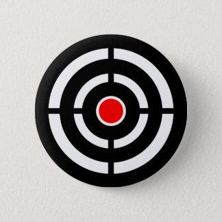 Chapa Redonda De 5 Cm Ojo en la blanco - impresión de la diana
