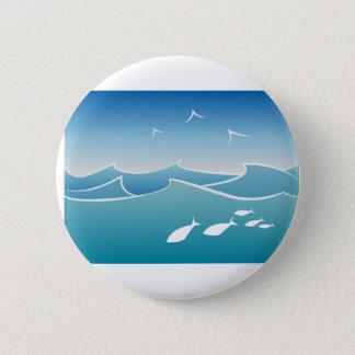 Chapa Redonda De 5 Cm Olas oceánicas
