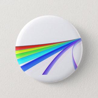 Chapa Redonda De 5 Cm Ondas del arco iris
