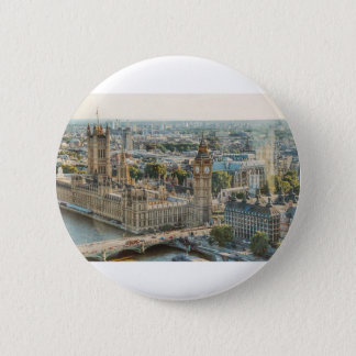 Chapa Redonda De 5 Cm Opinión de la ciudad en Londres