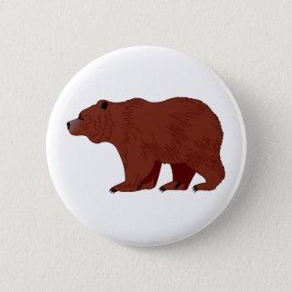 Chapa Redonda De 5 Cm Oso grizzly