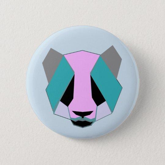 Chapa Redonda De 5 Cm Oso panda.