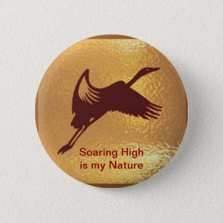Chapa Redonda De 5 Cm Pájaro de oro - el alto altísimo es mi naturaleza
