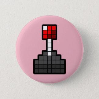 Chapa Redonda De 5 Cm Palanca de mando del pixel rosa clara