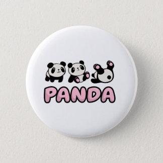 Chapa Redonda De 5 Cm Panda