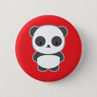 Chapa Redonda De 5 Cm Panda de Kawaii
