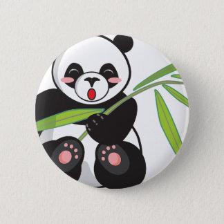 Chapa Redonda De 5 Cm Panda linda