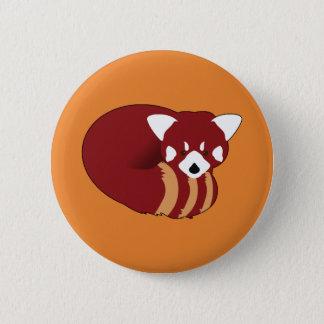 Chapa Redonda De 5 Cm Panda roja