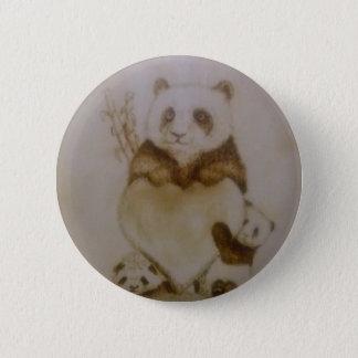 Chapa Redonda De 5 Cm Pandas cariñosas