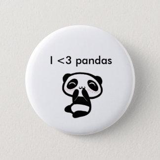 Chapa Redonda De 5 Cm Pandas I <3