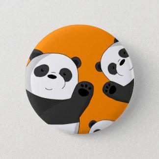 Chapa Redonda De 5 Cm Pandas lindas