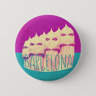 Chapa Redonda De 5 Cm Paraíso de Barcelona Gaudi