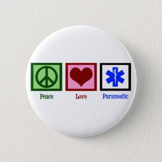 Chapa Redonda De 5 Cm Paramédico del amor de la paz