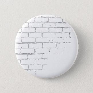 Chapa Redonda De 5 Cm Pared de ladrillo blanca de DIY para escribir la