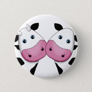 Chapa Redonda De 5 Cm Pares lindos de la vaca