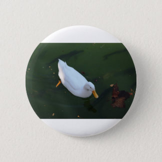Chapa Redonda De 5 Cm Pato blanco