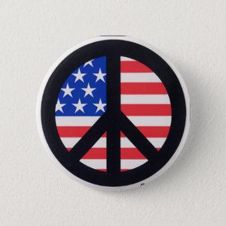 Chapa Redonda De 5 Cm Paz americana