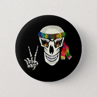 Chapa Redonda De 5 Cm Paz del cráneo