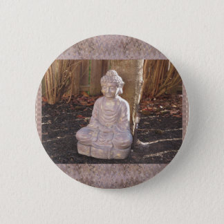 Chapa Redonda De 5 Cm Paz espiritual budista del ídolo de la estatua de