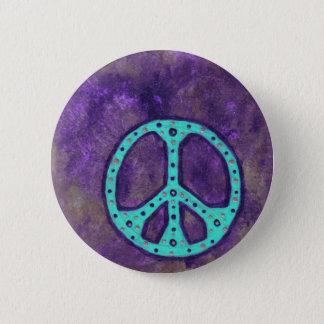 Chapa Redonda De 5 Cm Paz púrpura