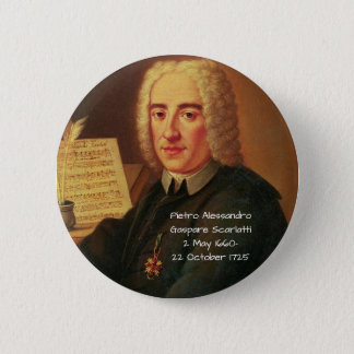 Chapa Redonda De 5 Cm Pedro Alessandro Gaspare Scarlatti