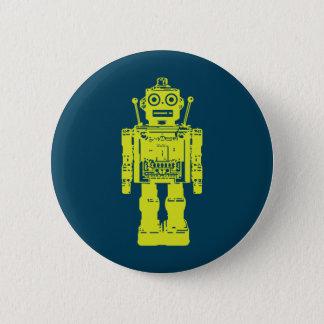 Chapa Redonda De 5 Cm Pegatina del robot