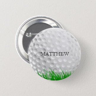 Chapa Redonda De 5 Cm Pelota de golf en hierba