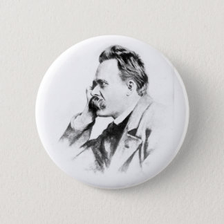 Chapa Redonda De 5 Cm pensador famoso: Friedrich Nietzsche