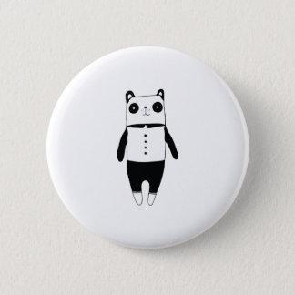 Chapa Redonda De 5 Cm Pequeña panda blanco y negro