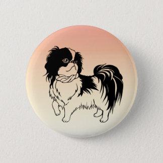 Chapa Redonda De 5 Cm Pequeño Pin blanco y negro adorable del naranja