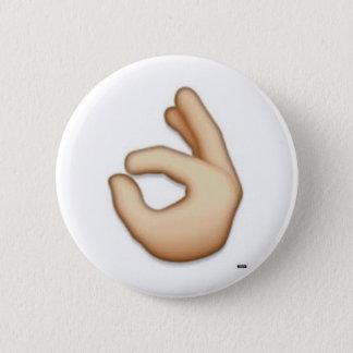 Chapa Redonda De 5 Cm Perno ACEPTABLE del emoji