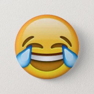Chapa Redonda De 5 Cm Perno de risa del emoji