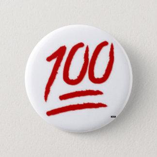 Chapa Redonda De 5 Cm perno del emoji 100