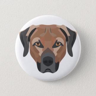Chapa Redonda De 5 Cm Perro Brown Labrador del ilustracion