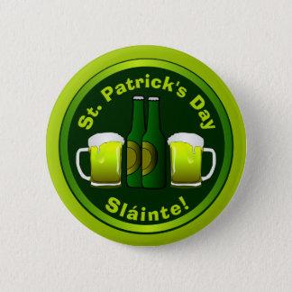 Chapa Redonda De 5 Cm Personal lindo o negocio St Patrick