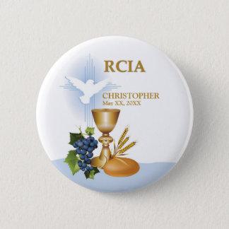 Chapa Redonda De 5 Cm Personalice, sacramento del católico de RCIA