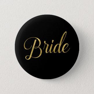 Chapa Redonda De 5 Cm Pin a juego de la novia del pelotón de la novia