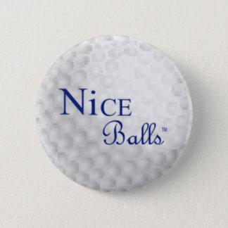 Chapa Redonda De 5 Cm Pin agradable de las bolas
